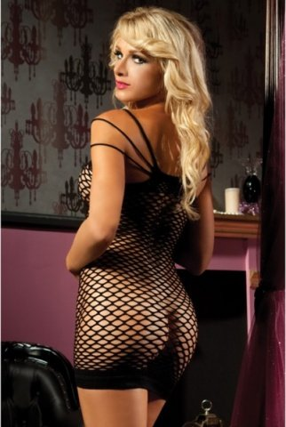 Откровенное черное платье, фото 3