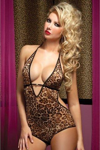 Леопардовое боди с открытой спиной, фото 2