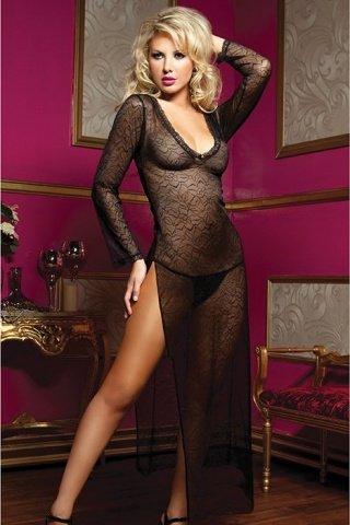 Эротичное длинное платье с трусиками, фото 2