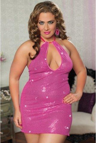 Розовое платье с паетками, фото 2