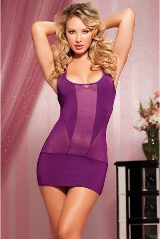 Фиолетовое короткое платье, фото 2