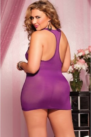 Фиолетовое короткое платье, фото 3