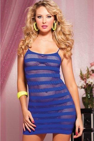 Синее платье в полоску, фото 2