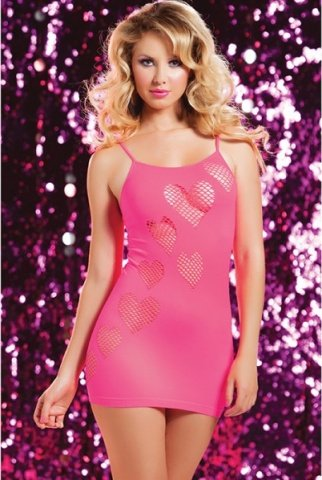Розовое бесшовное платье сердцеедки, фото 2