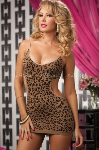 Жаккардовое леопардовое платье, фото 2