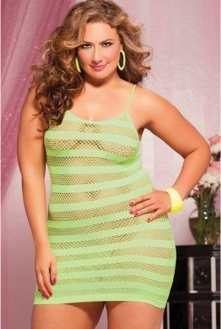 Лаймовое платье в полоску, фото 2