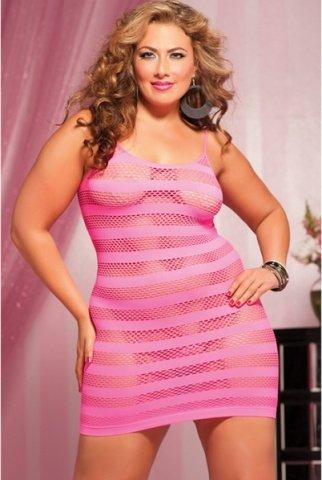 Розовое платье в полоску, фото 2