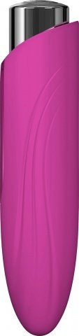 Массажер из пластика с силиконовой насадкой NYX от KEY малиновый, фото 3