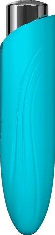 Массажер из пластика с силиконовой насадкой NYX от KEY лазурный