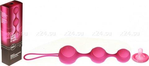 Цепочка вагинальных шариков со съемной силиконовой оболочкой (розовый)