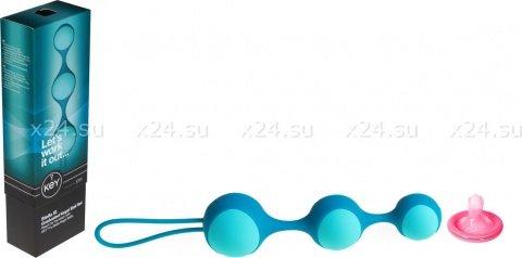 Цепочка вагинальных шариков со съемной силиконовой оболочкой (голубой), фото 2