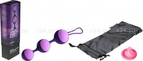 Цепочка вагинальных шариков со съемной силиконовой оболочкой (сиреневый), фото 2