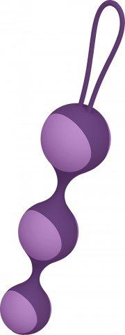 Цепочка вагинальных шариков со съемной силиконовой оболочкой (сиреневый)