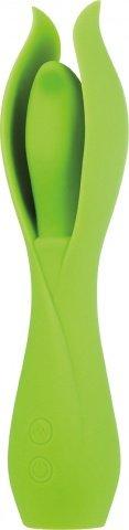 Вибромассажер Lust L6, силикон, 10 режимов вибрации, зеленый