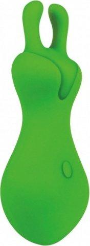 Вибромассажер Lust L1, силикон, зеленый