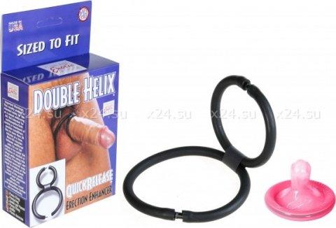 Эрекционное кольцо на член и мошонку double helix