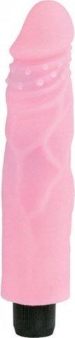 Вибратор c насадкой futurotic розовый 20 см, фото 3