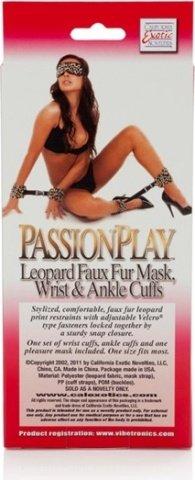 Леопардовый комплект фиксаторов tera patrick's mask, cuffs, фото 2