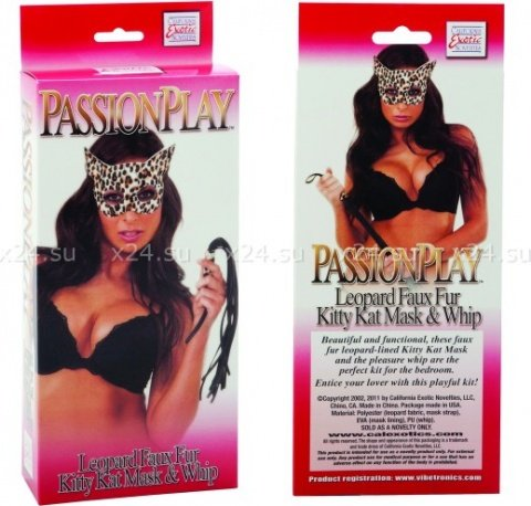 Леопардовый набор (маска и плетка) tera patrick's play kit, фото 3