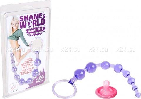Анальная цепочка фиолетовая Shane's World, фото 2