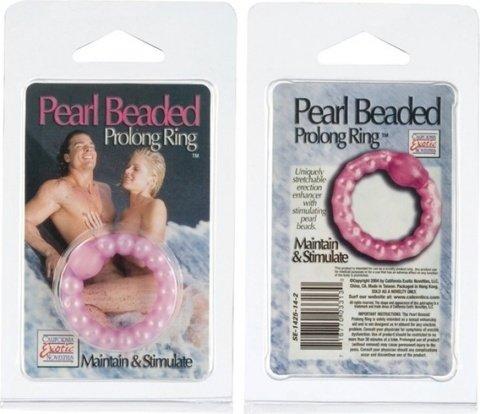 Кольцо эрекционное pearl beaded, фото 3