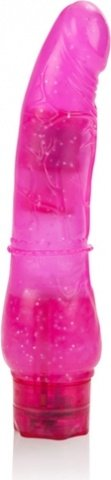 Вибратор с блестками Hot Pinks (10 режимов) 21 см, фото 5