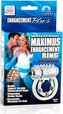 Водонепронциаемое вибрирующее кольцо maximus, фото 3