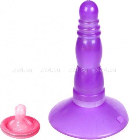 Анальная пробочка vibro play purple ukrn, фото 3