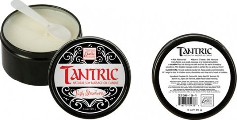 Массажная свеча tantric soy candle - tasty strawberry 2256-10bxse, фото 2