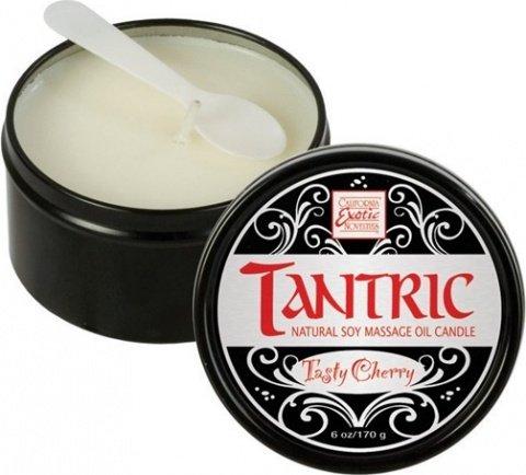 Массажная свеча tantric soy candle - tasty cherry 2256-20bxse, фото 2