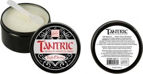 Массажная свеча tantric soy candle - tasty cherry 2256-20bxse, фото 3