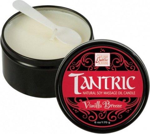 Массажная свеча с феромонами аромат ванили tantric vanilla breeze, фото 2
