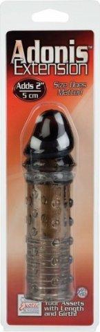 Удлинитель пениса adonis 2in серый 16 см, фото 3