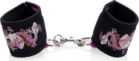 Поролоновые мягкие наручники с тату inked, фото 2