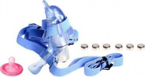 Вибростимулятор клитора микро дельфин на ремнях, фото 2