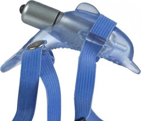 Вибростимулятор клитора микро дельфин на ремнях, фото 6