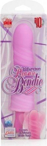 10-ти функциональный розовый вибратор pleasure bendies, фото 3