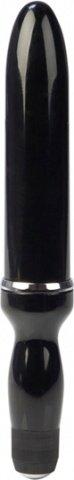 Мощнейший черный глянцевый вибромассажер colt из пластика 26 см, фото 3