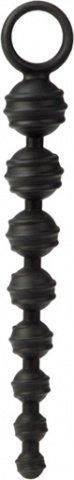 Рельефная цепь colt из черного силикона, фото 3