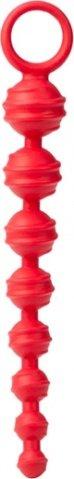 Рельефная цепь colt из красного силикона, фото 2