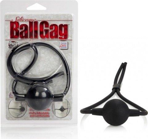 Кляп из силикона черный ballgag, фото 2