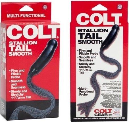 Анальный фаллос с хвостиком colt 28 см, фото 3