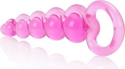 Упругая гибкая розовая цепочка basic, фото 4