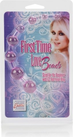Розовая анальная цепочка first time love beads, фото 3