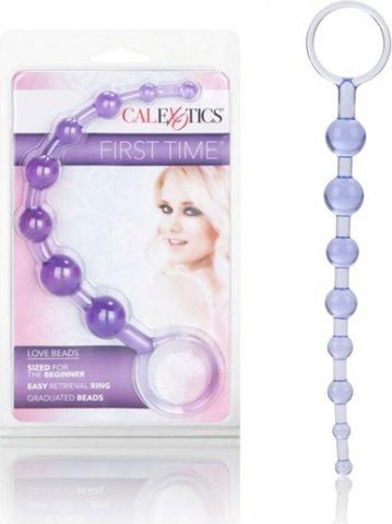 Фиолетовая анальная цепочка first time love beads