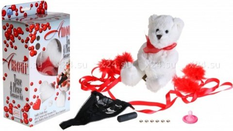 Подарочный набор amour (мишка, стринги, мини-вибратор)