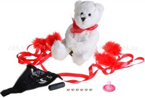Подарочный набор amour (мишка, стринги, мини-вибратор), фото 2
