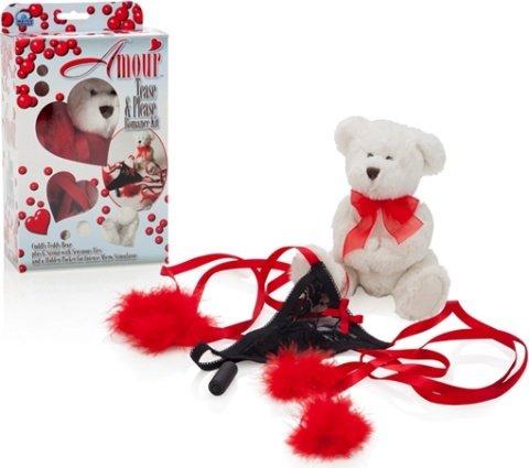 Подарочный набор amour (мишка, стринги, мини-вибратор), фото 3