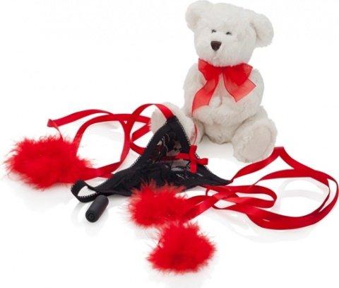 Подарочный набор amour (мишка, стринги, мини-вибратор), фото 4