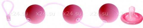 Три вагинальных шарика first time розовые, фото 2